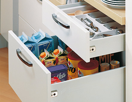 Single-walled drawer system.