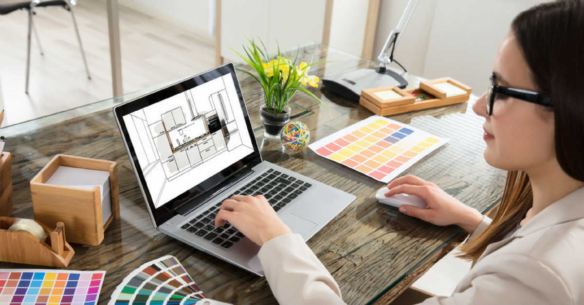 kitchen designer on laptop in melbourne