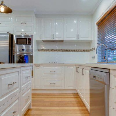 white gloss melbourne kitchen