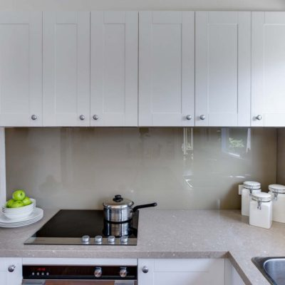 small kitchen renovation with stone benchtop