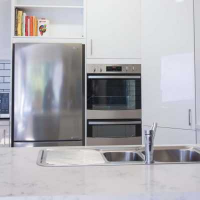 forest Hill white gloss kitchen with appliances