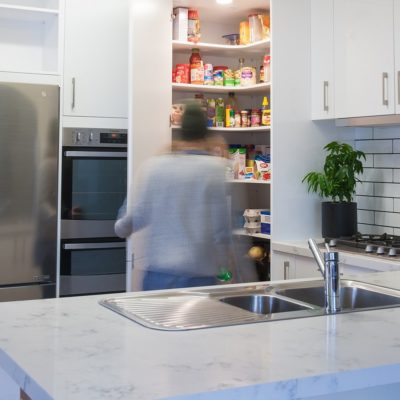 forest Hill white kitchen with subway tile splashback