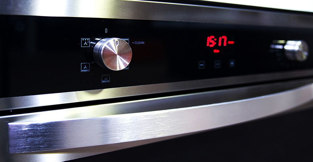 oven timer and knob