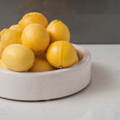 ringwood north kitchen benchtop with bowl of lemons