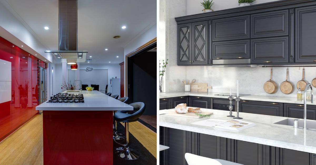 bold and beautiful kitchen cabinets