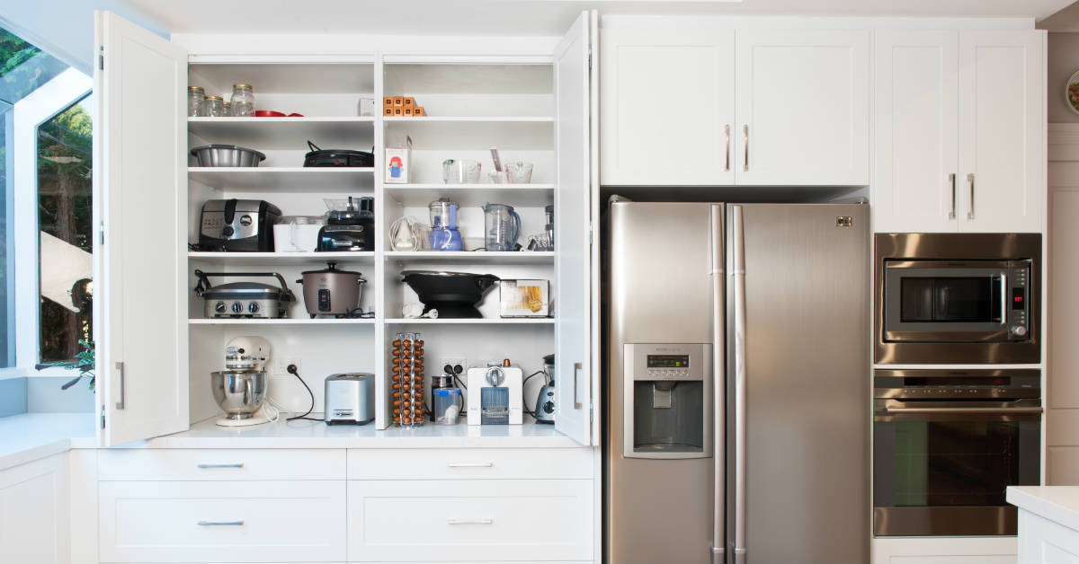 kitchen storage for appliances