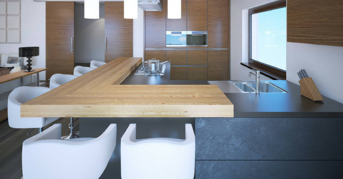 timber grain kitchen