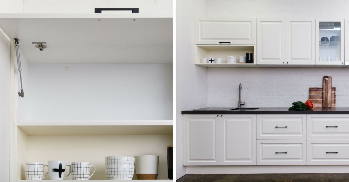 overhead kitchen cupboards