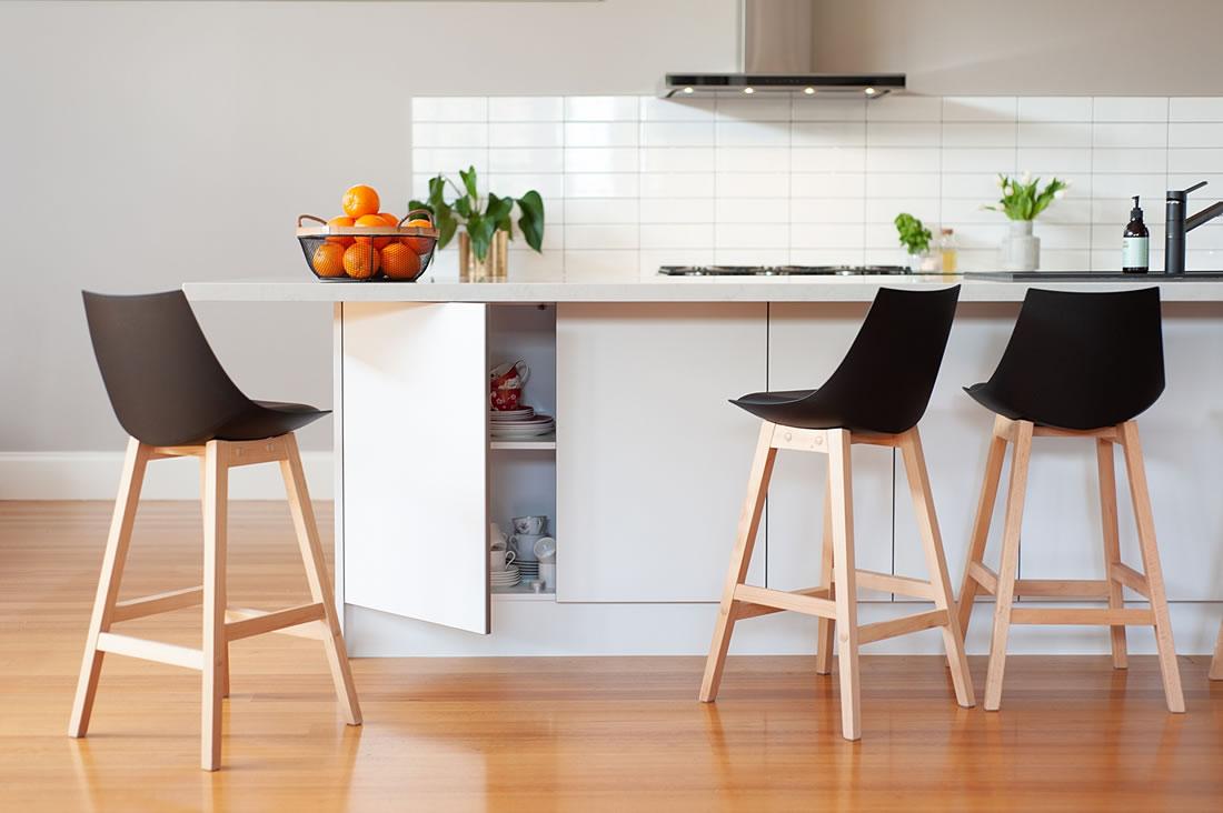 Kitchen island bench storage.