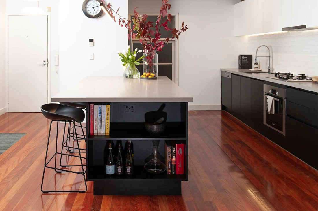 Industrial style kitchen renovation in Richmond, Melbourne
