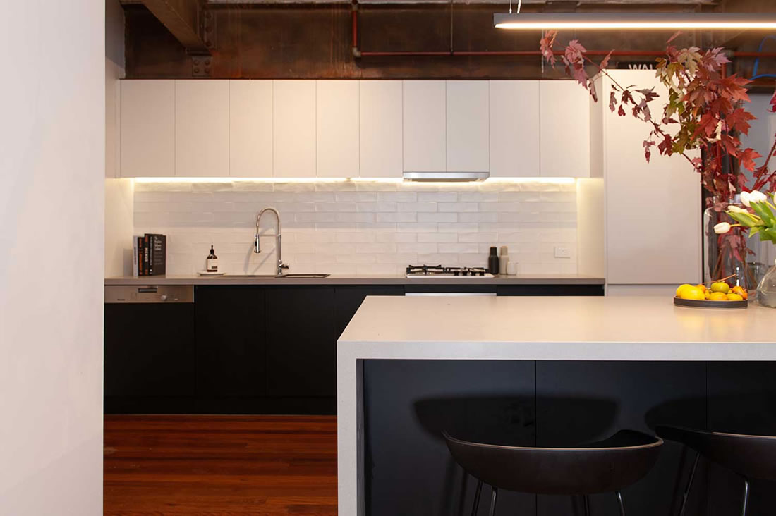 Industrial Apartment Kitchen Renovation in Richmond, Melbourne
