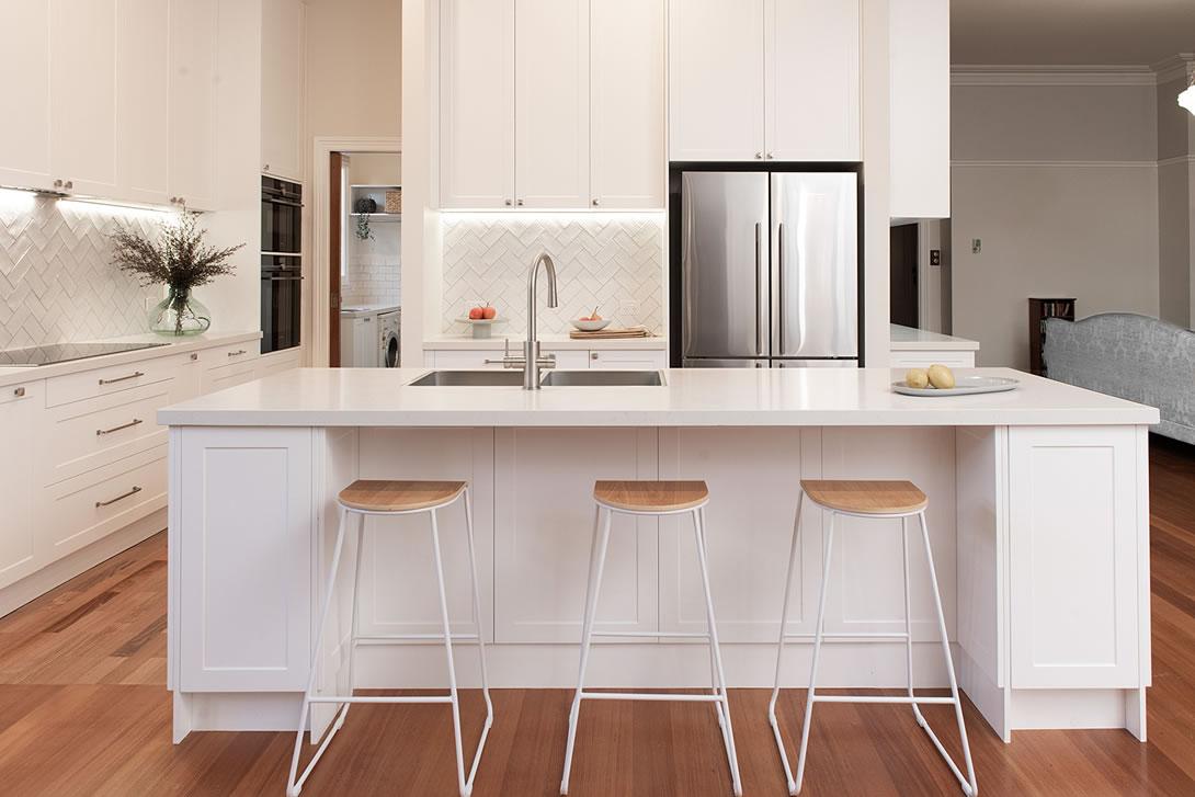 White kitchen renovation