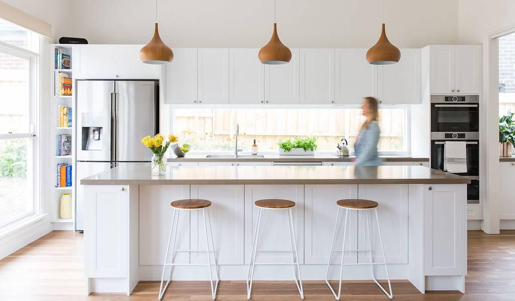 white hampton style kitchen in fairfield